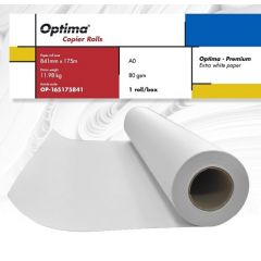 Rola copiator A0, 80gr, 841mm x 175m, Optima - Premium