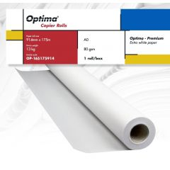 Rola copiator A0+, 80gr, 914mm x 175m, Optima - Premium
