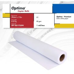 Rola copiator A1, 80gr, 594mm x 175m, Optima - Premium