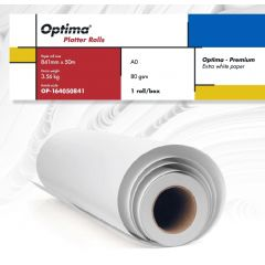 Rola plotter A0, 80gr, 841mm x 50m, Optima - Premium