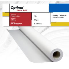 Rola plotter A0+, 80gr, 914mm x 50m, Optima - Premium