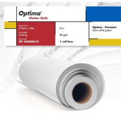 Rola plotter A1+, 80gr, 610mm x 50m, Optima - Premium