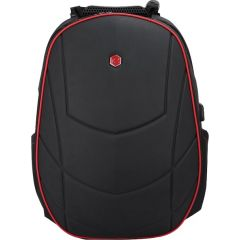 Rucsac BESTLIFE Gaming Assailant - negru/rosu - laptop 17 inch, comp. anti-vibratie, charge USB