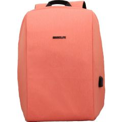 Rucsac BESTLIFE Travel Safe - roz - laptop 16 inch, charge pentru USB si TypeC conectori