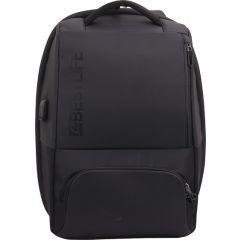 Rucsac BESTLIFE Neoton - negru - laptop 16 inch, charge pentru USB si TypeC conectori