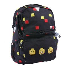 Ghiozdan scoala Freshman LEGO Core Line - design Faces Black