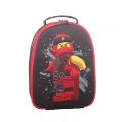 Rucsac negru LEGO M-Line - design rosu Ninjago Kai (pentru mancare)