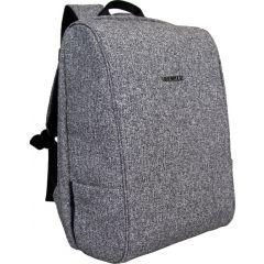 Rucsac BESTLIFE Travel Safe - gri/negru - laptop 16 inch, charge pentru USB si TypeC conectori
