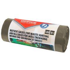Saci menaj super rezistenti 120L, 10buc/rola, Office Products - maro - pt. resturi bio