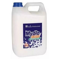 Sapun lichid, 5 litri, antibacterian, PH-neutru, cu glicerina, Delko Profesional - alb