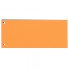 Separatoare carton pentru biblioraft, 190g/mp, 105 x 240 mm, 100/set, OXFORD - orange