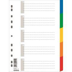 Separatoare plastic color, A4, 120 microni,  5 culori/set, DONAU