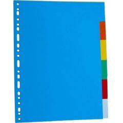 Separatoare carton color, A4, 180g/mp, 24 culori/set, Optima