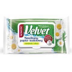 Hartie igienica umeda, 42buc/pachet, biodegradabile, VELVET Soft-aloe vera si musetel