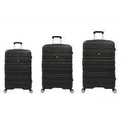 Set 3 trollere CATERPILLAR Cocoon (20/24/28 inch), material ABS hard case - negru