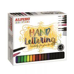Set caligrafie, 30 culori/set, ALPINO Color Experience - Hand Lettering