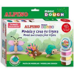 Set plastilina magica ALPINO Magic Dough - Animals