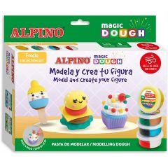 Set plastilina magica ALPINO Magic Dough - Foodie