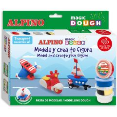 Set plastilina magica ALPINO Magic Dough - Individual transport