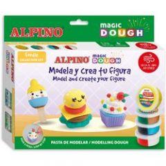 Plastilina magica ALPINO Magic Dough DIY - Foodie individual