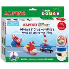 Plastilina magica ALPINO Magic Dough DIY - Individual transport