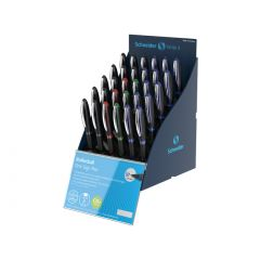 SIS Display SCHNEIDER One Sign Pen, 30 rollere cu cerneala 1.0mm-(12x albastru,negru, 3x rosu,verde)