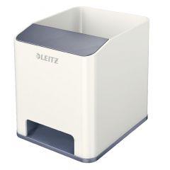 Suport instrumente de scris Leitz WOW, PS, cu amplificare sunet, culori duale, alb-gri