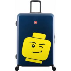 Troller 28 inch, material ABS, LEGO Minifigure Head - bleumarin