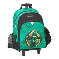 Troller/rucsac LEGO V-Line - design NinjaGo Green