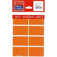 Etichete color autoadezive,  8/A4, 99.1 x 67.7mm, 25 coli/top, TANEX - orange fluorescent