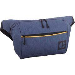 Borseta CATERPILLAR Code - Hex Parkour, material 420D hexagonal, buzunar cu fermoar - bleumarin