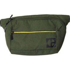 Borseta CATERPILLAR Code - Hex Parkour, material 420D hexagonal, buzunar cu fermoar - verde masliniu