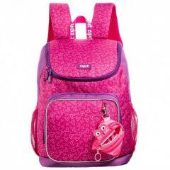 Rucsac ZIPIT Wildlings Premium, buzunare laterale - roz + portofel monezi cadou