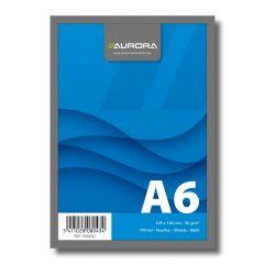 Blocnotes capsat, A6, 100 file - 60g/mp, microperforatii, AURORA Office - velin