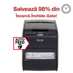 Distrugator Automat documente REXEL Auto+ 60X, 60 coli, P3, cross-cut (confeti)