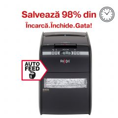 Distrugator Automat documente REXEL Auto+ 90X, 90 coli, P3, cross-cut (confeti)
