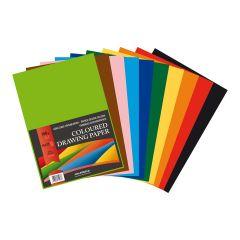 Carton color A4, 160g/mp - 250 coli/top, AURORA Raphael -  10 culori intense
