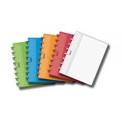 Caiet A5, 72 file - 90g/mp, coperta PP transparent color, AURORA Adoc - dictando