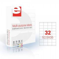 Etichete autoadezive  32/A4, 52,5 x 35 mm, 200 coli/top, ETILASER - albe