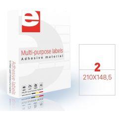Etichete autoadezive   2/A4, 210 x 148,5 mm, 200 coli/top, ETILASER - albe