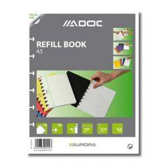 Rezerva caiet A5, 72 file - 90g/mp, AURORA Adoc - matematica