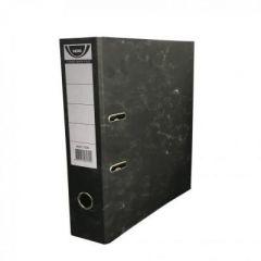 Biblioraft din carton, 5cm, negru marmorat, NOKI