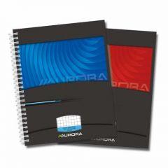 Caiet cu spirala, A5, 50 file - 90g/mp, coperti carton, AURORA Mano - matematica