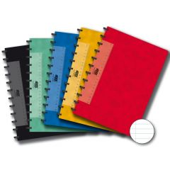 Caiet A4, 72 file - 90g/mp, coperta carton color embosat, AURORA Adoc - dictando