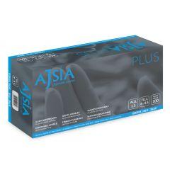 Manusi nitril AJSIA Plus, unica folosinta, nepudrate, 0.12mm, 100 buc/cutie - albastre - marime XL