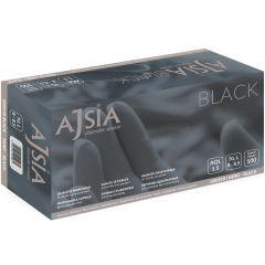 Manusi nitril AJSIA Black, unica folosinta, nepudrate, 0.13mm, 100 buc/cutie - negre - marime   S