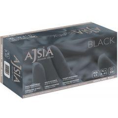 Manusi nitril AJSIA Black, unica folosinta, nepudrate, 0.13mm, 100 buc/cutie - negre - marime XL