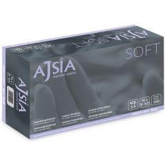 Manusi nitril AJSIA Soft, unica folosinta, nepudrate, 0.09mm, 100 buc/cutie - albastre - marime   S