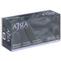 Manusi nitril AJSIA Soft, unica folosinta, nepudrate, 0.09mm, 100 buc/cutie - albastre - marime XL