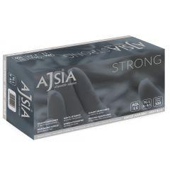Manusi nitril AJSIA Strong, unica folosinta, nepudrate, 0.19mm, 100 buc/cutie - albastre -marime  M